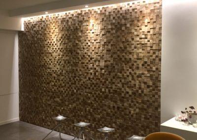 Holzpaneele Blocks Glatt Nuss Office 1